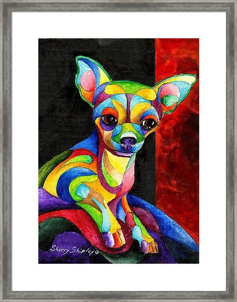Ah Chihuahua Framed Print