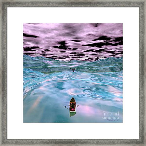 Ahab And The Whale Framed Print