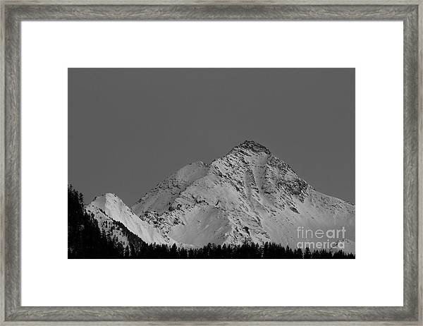 Ahornspitze After Midnight Framed Print