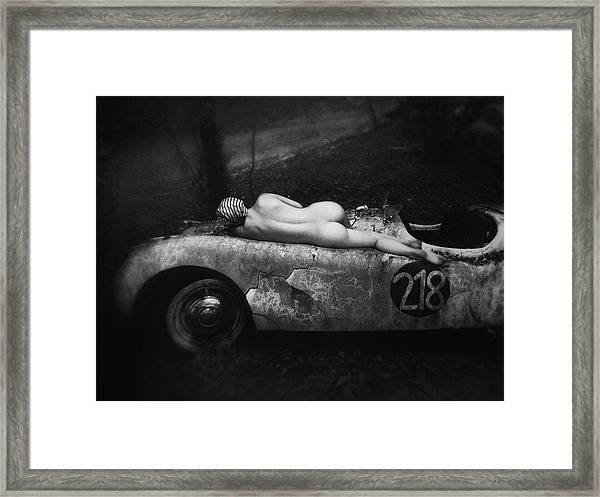 Aimee & Jaguar Framed Print