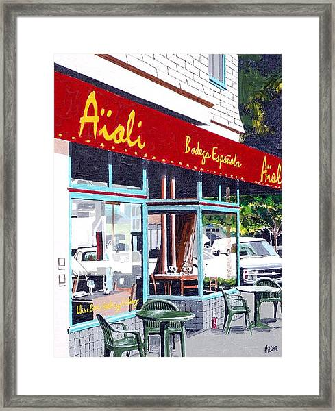Aioli Framed Print by Paul Guyer