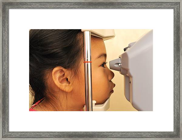 Air-puff Tonometer Framed Print by Dblight