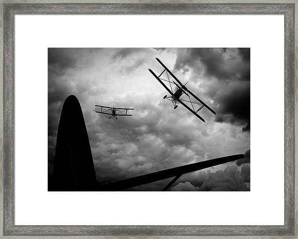 Framed Print featuring the photograph Air Pursuit by Bob Orsillo