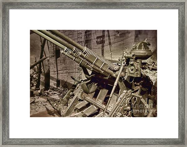 Air Raid Framed Print