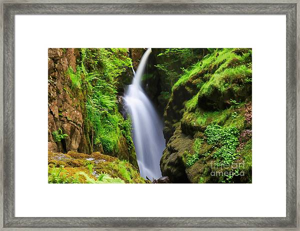 Aira Force In Lake District National Park Framed Print