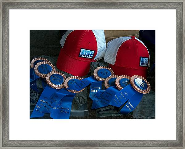 Aire Cap Prizes Framed Print