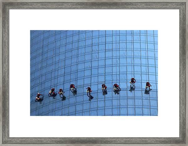 Airy Workplace Framed Print by Hans-wolfgang Hawerkamp