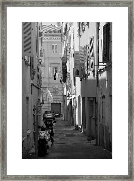 Ajaccio Back Alley Framed Print