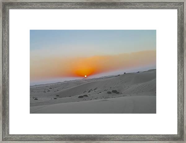 Al Ain Desert 12 Framed Print