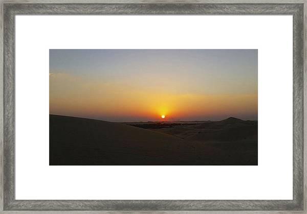 Al Ain Desert 15 Framed Print