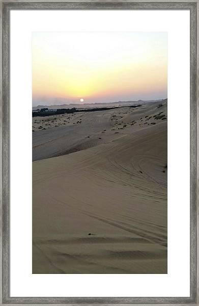 Al Ain Desert 8 Framed Print