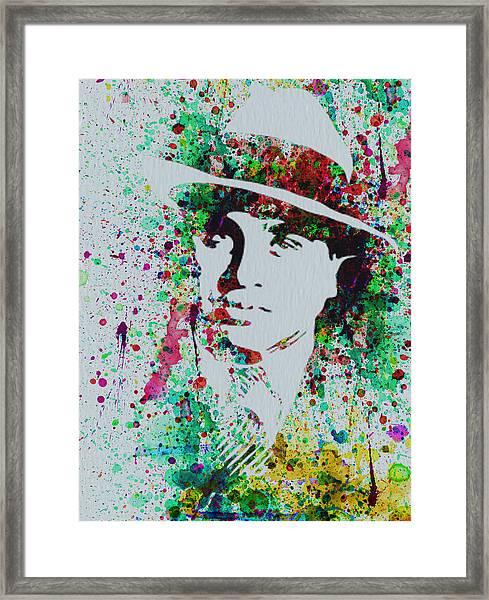 Al Capone Watercolor Framed Print