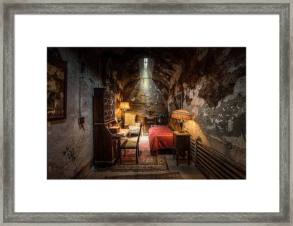 Al Capone's Cell - Historical Ruins At Eastern State Penitentiary - Gary Heller Framed Print