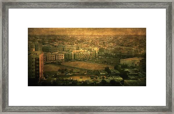 Al-khobar On Texture Framed Print