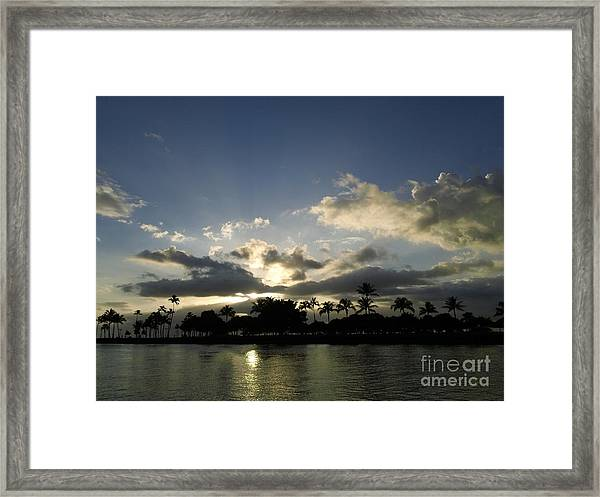 Ala Wai Skies Framed Print