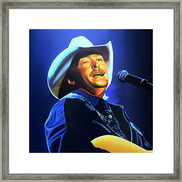 Alan Jackson Painting Framed Print