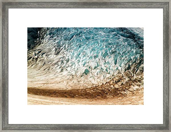 Alaska Close-up Of A Glacier (large Framed Print