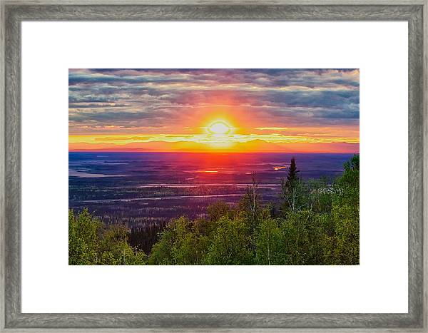 Alaska Land Of The 11 Pm Sun Framed Print