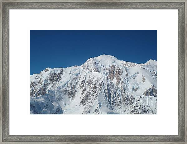 Framed Print featuring the photograph Alaska Peak by Barbara Von Pagel