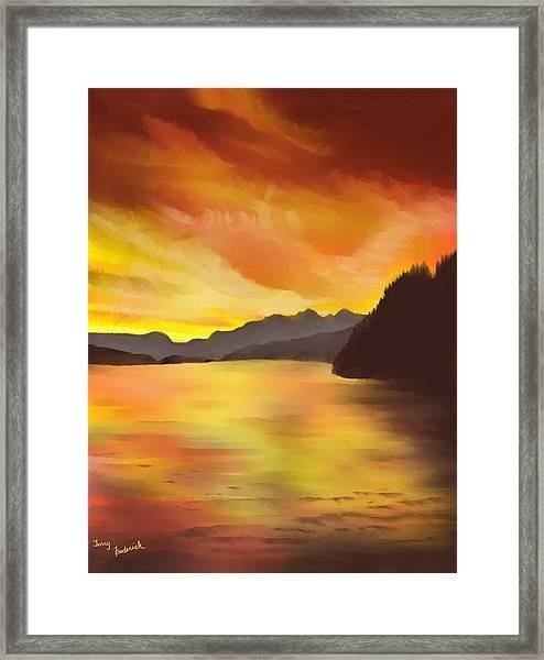 Alaska Sunset Framed Print