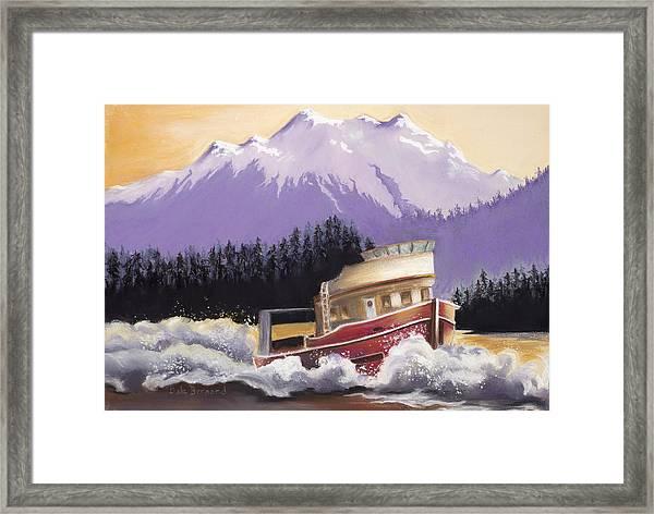 Alaskan Boat Adventure Framed Print