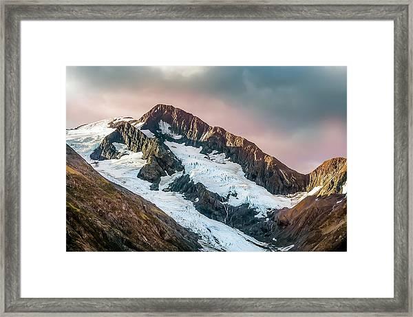 Alaskan Mountain Glacier Framed Print