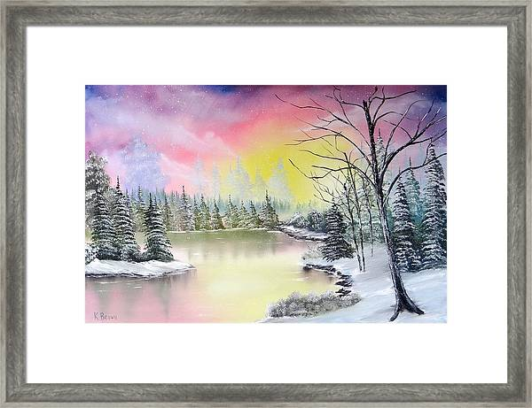 Alaskan Sunset Framed Print