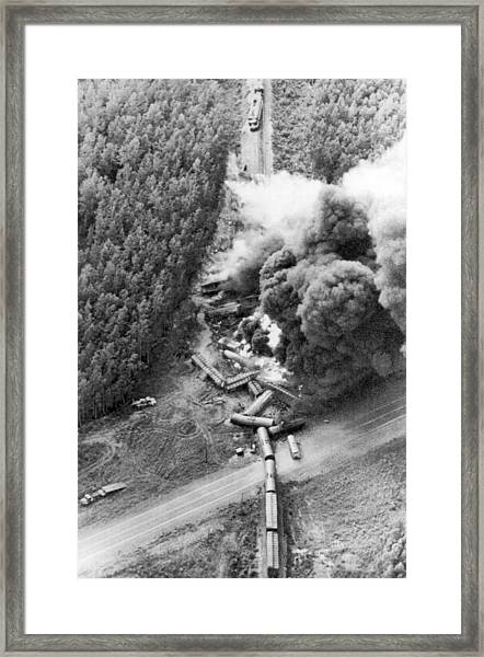 Alaskan Train Wreck Framed Print