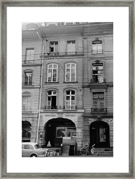 Albert Einstein's Home Framed Print by American Institute Of Physics/science Photo Library