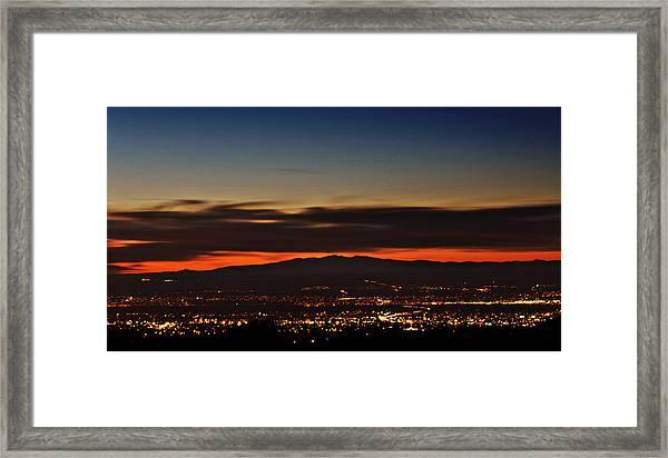 Albuquerque Sunset Framed Print