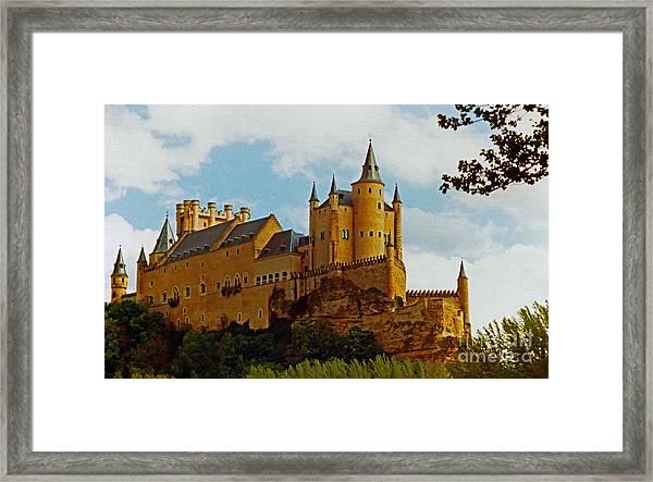 Alcazar Castle In Segovia Spain Framed Print