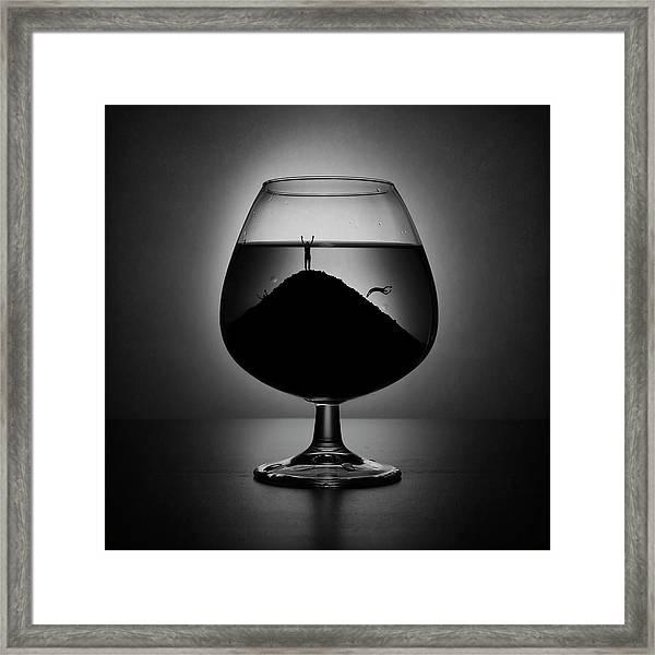 Alcoholism Framed Print