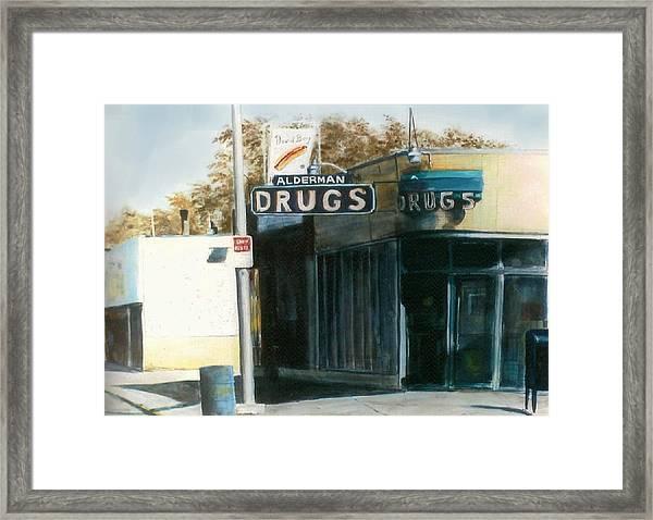Alderman Drugs Framed Print