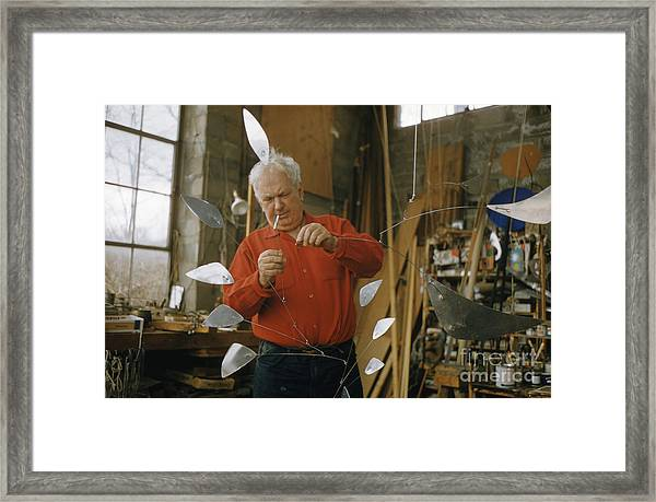 Alexander Calder In His Studio 1958 Framed Print