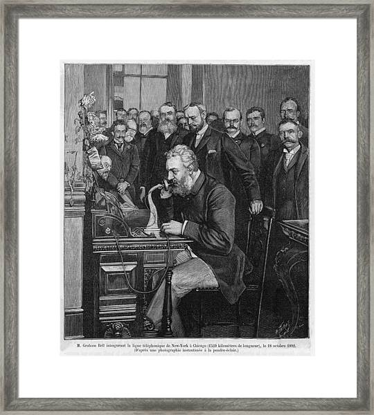 Alexander Graham Bell  American Framed Print