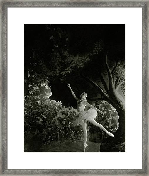 Alexandra Danilova In Swan Lake Framed Print