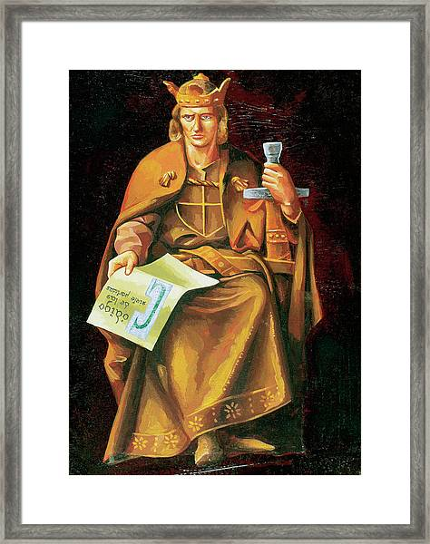 Alfonso X Of Castile 'the Wise (toledo Framed Print