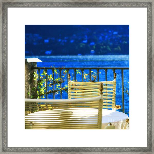 Alfresco Dining Framed Print