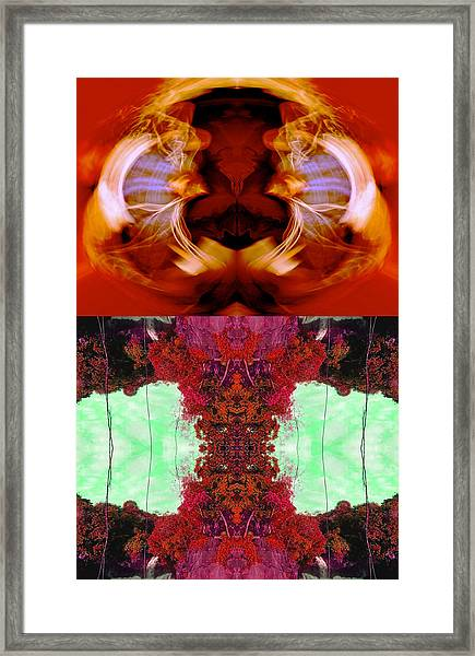 Algo Llego' En El Bosque - Con Una Foto De Perla D. De Colmenares 2014 Framed Print