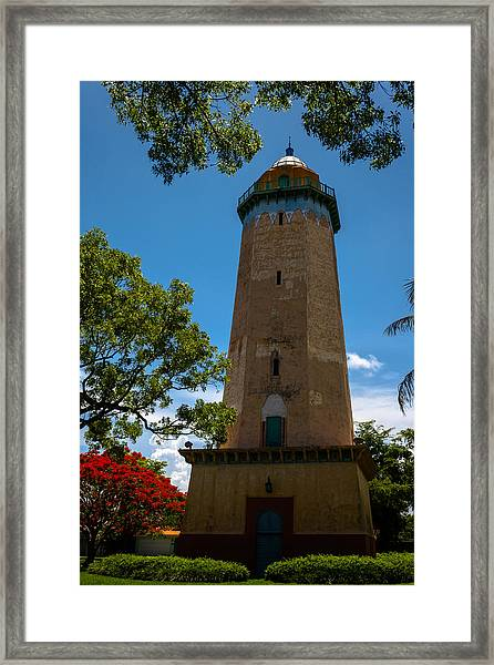 Alhambra Water Tower Of Coral Gables Framed Print