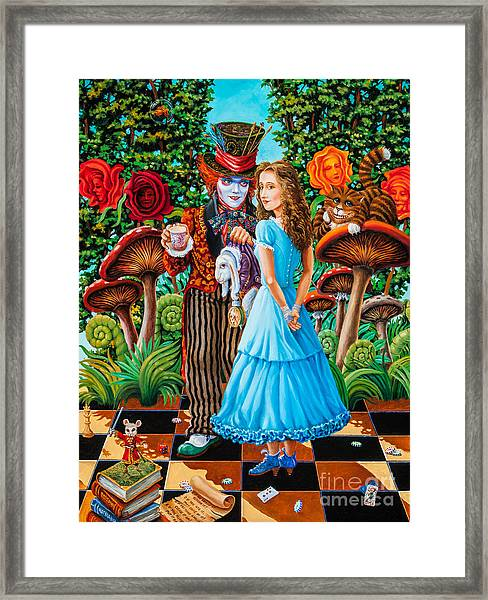Alice And Mad Hatter. Part 2 Framed Print