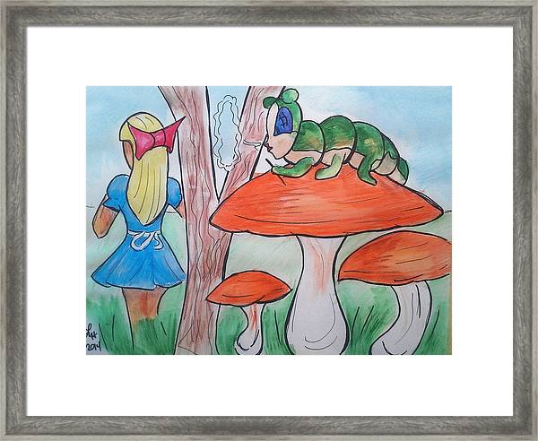 Alice Asking For Directions Framed Print