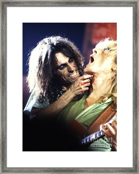 Alice Cooper 1975 Framed Print
