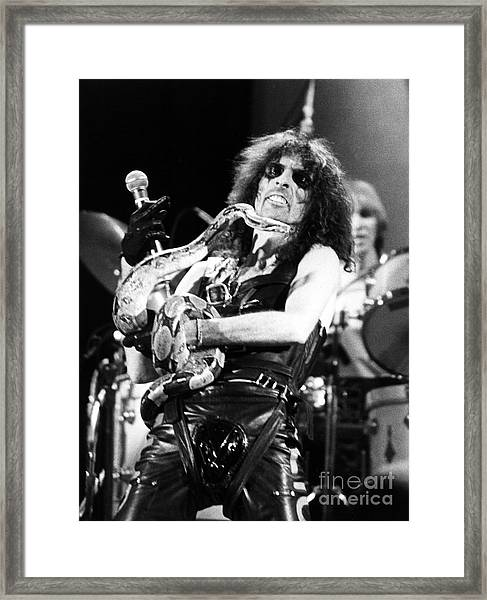 Alice Cooper 1979 Framed Print by Chris Walter