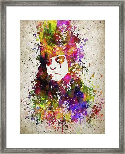Alice Cooper In Color Framed Print