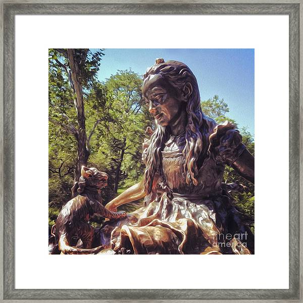 Alice In Wonderland Statue In New York City Central Park Framed Print