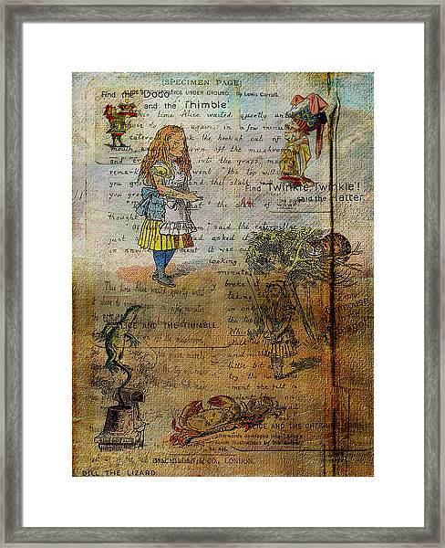 Alice's Adventures Framed Print