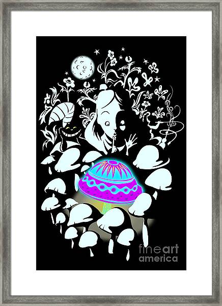 Alice's Magic Discovery Framed Print
