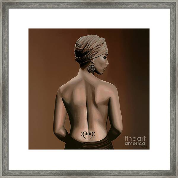 Alicia Keys  Framed Print