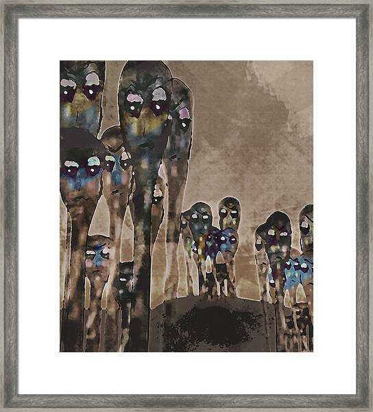 Alien Harvest Framed Print